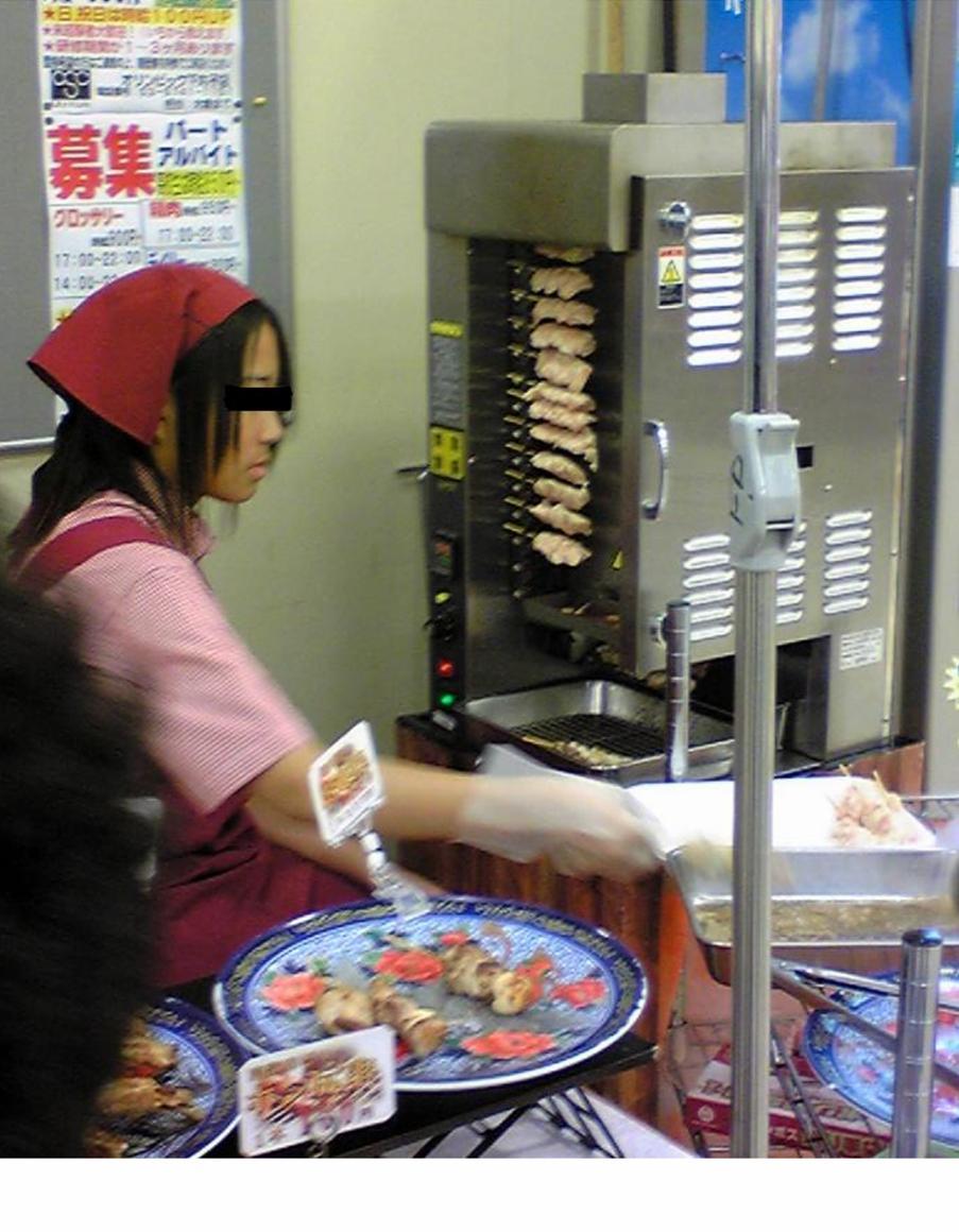 日本直立式自动回转串烧机  1