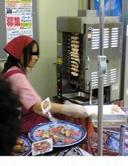 日本直立式自动回转串烧机