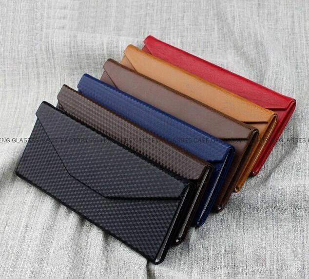 Triangle folding eyeglasses case
