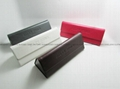 Hot sale handmade triangle foldable glasses case wholesale