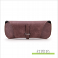 soft custom PU sunglasses case bag factory price