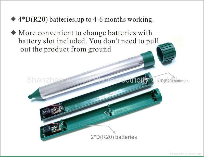 铝管驱鼠器(4*D 电池供电) 8