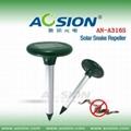 Solar snake repeller