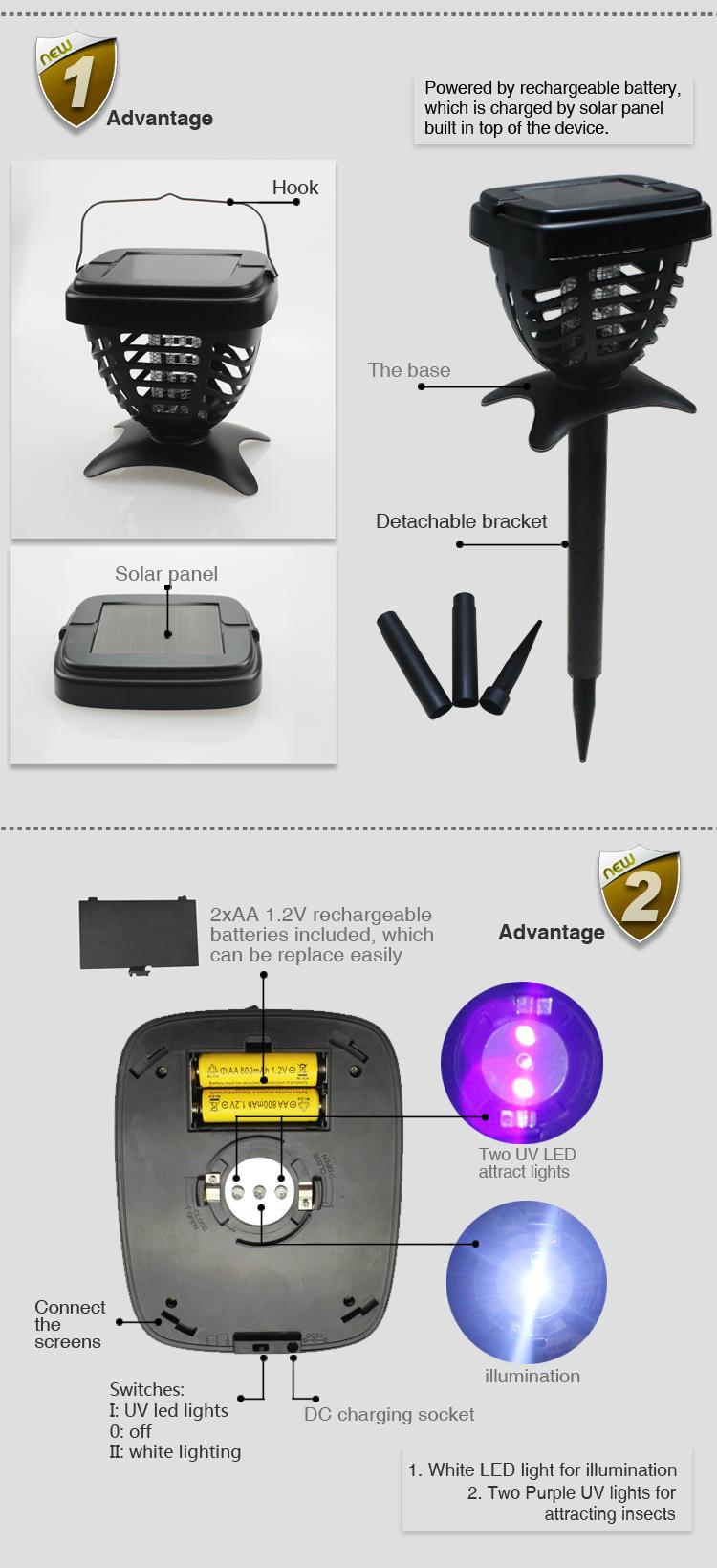 Solar insect killer lamp 9