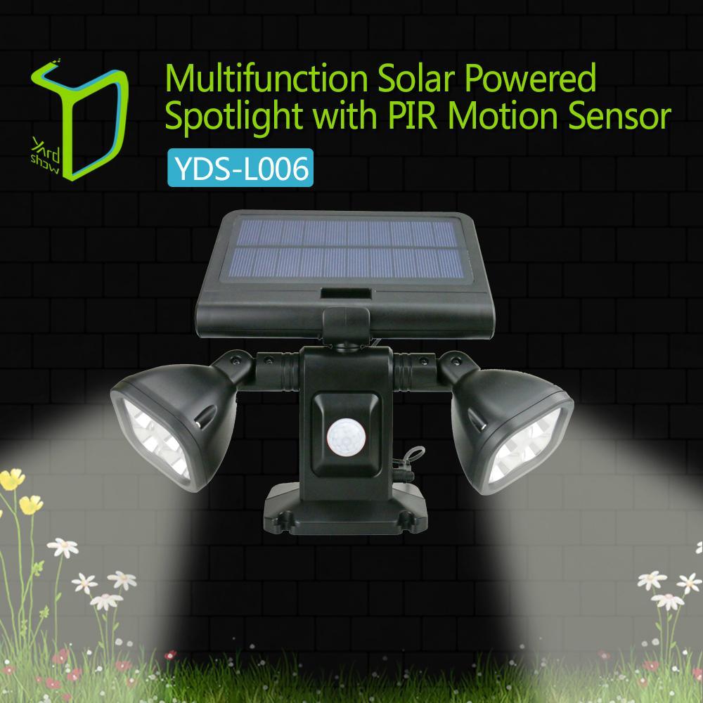 Light-operated brightest solar motion sensor light