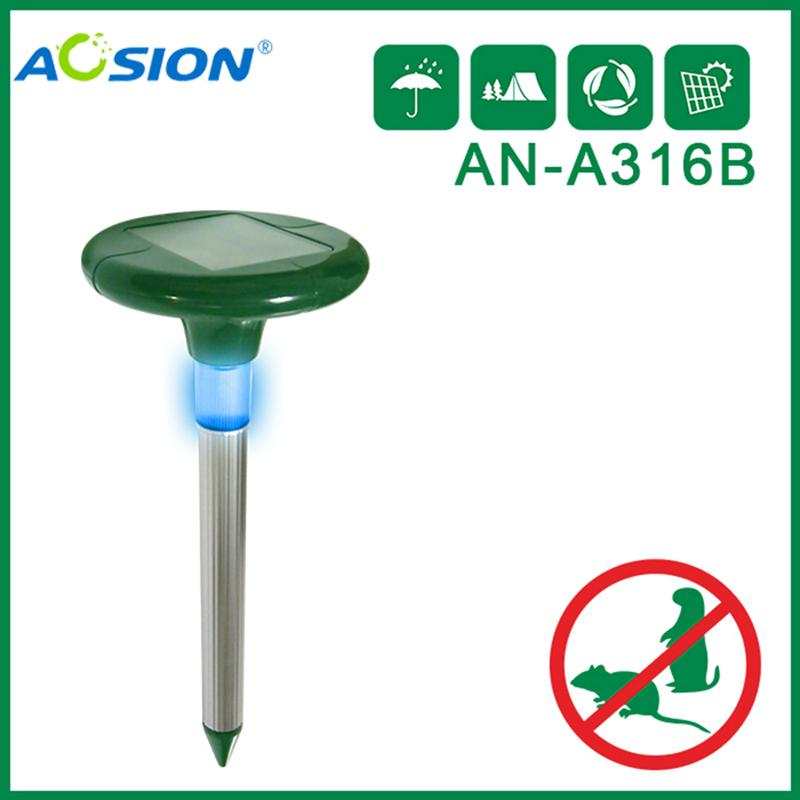 Aosion Solar Mole Repeller with LED Light
