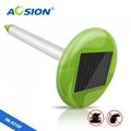 Solar snake repeller with bright garden