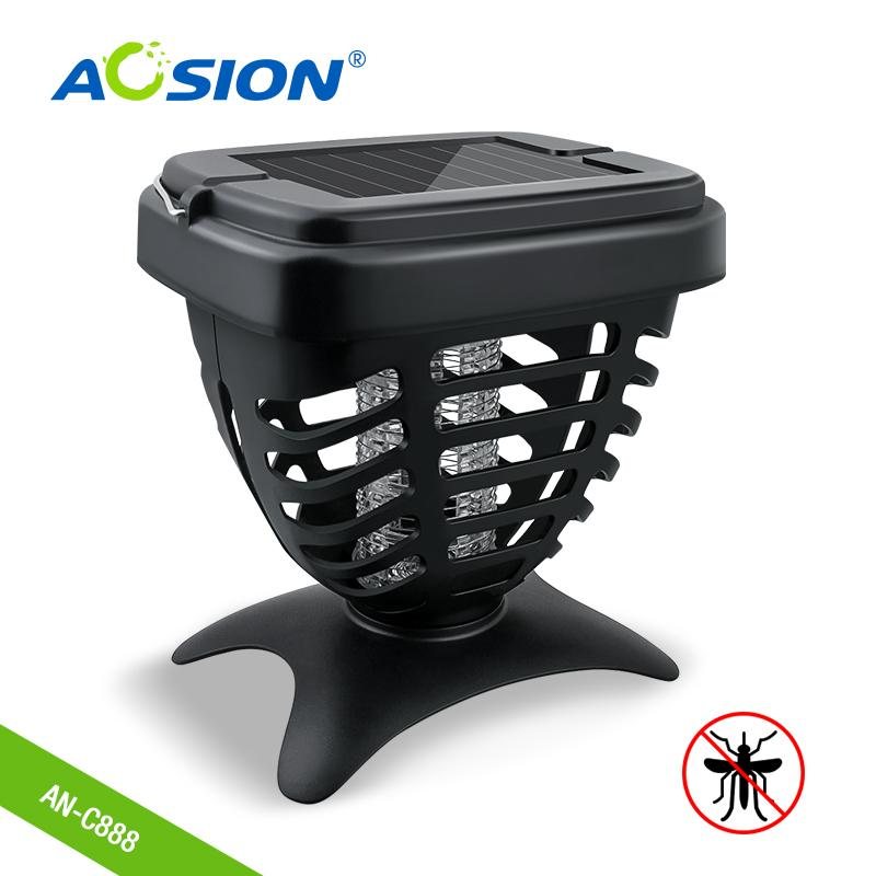 Aosion silicone mosquito band solar energy insect killer lamp 1