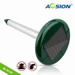 Aosion outdoor garden solar moles repeller with battery cassette