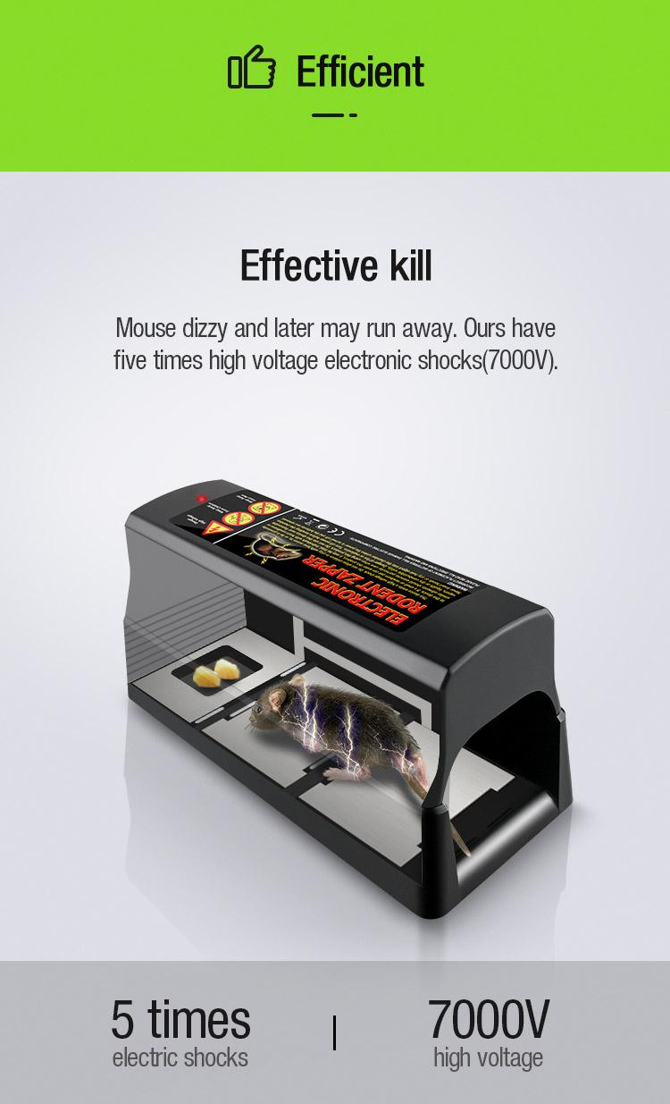High Quality Electronic rodent killing cage for rat mice Mouse rodent trap 5