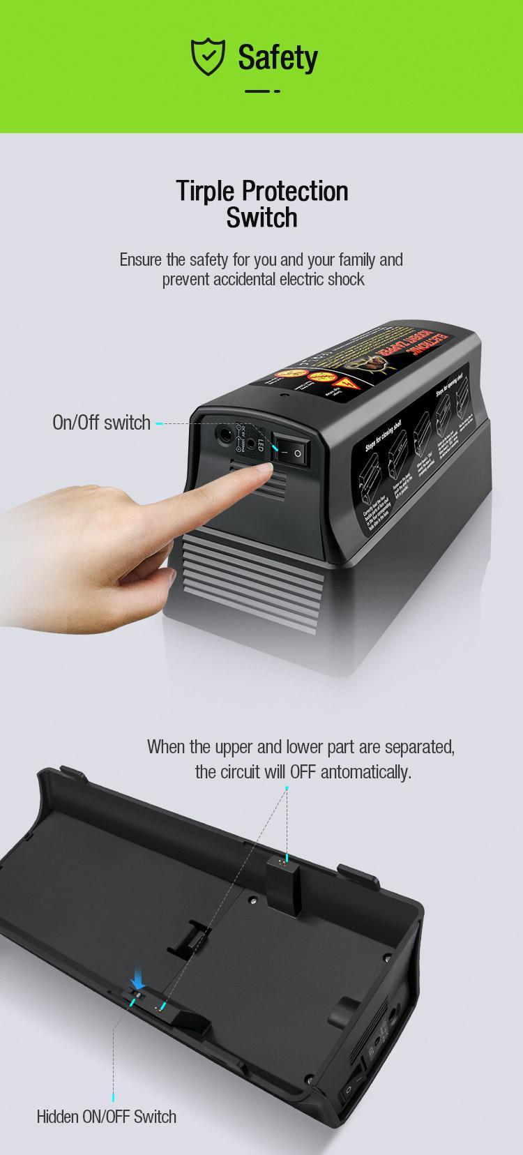 高品質奧訊新款電子滅鼠籠 6