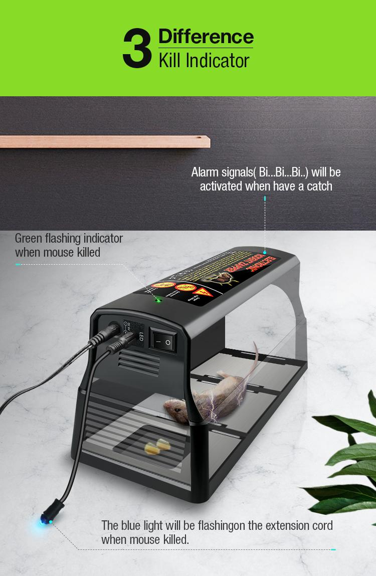 High Quality Electronic rodent killing cage for rat mice Mouse rodent trap 8