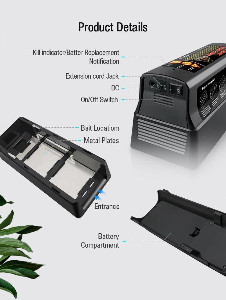 高品质奥讯新款电子灭鼠笼 11