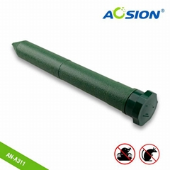 Plastic tube mole repeller