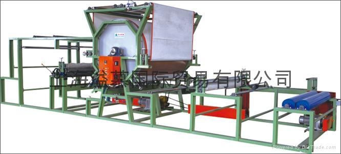HORIZONTAL NET BELT LAMINATING MACHINE