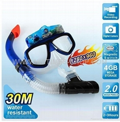 Underwater Scuba Mask Diving Digital Camera (4GB) With 30M Water Resistant (Hot Product - 1*)