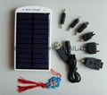 Solar energy charger for mobile phones