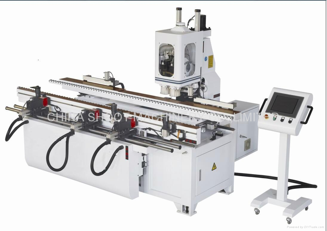 Door Multi-Function Machine Center With CNC Control and 3 Hinges,SHK4202D-3 1