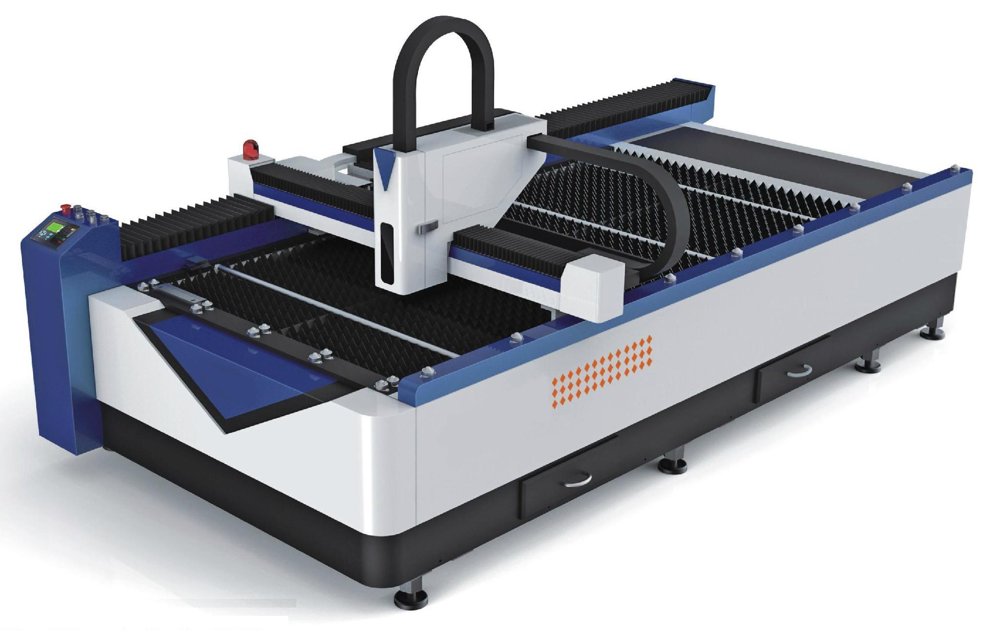 Professional Advertisement Fiber Laser Cutting with 1250x2500mm work, SHLF-1325L