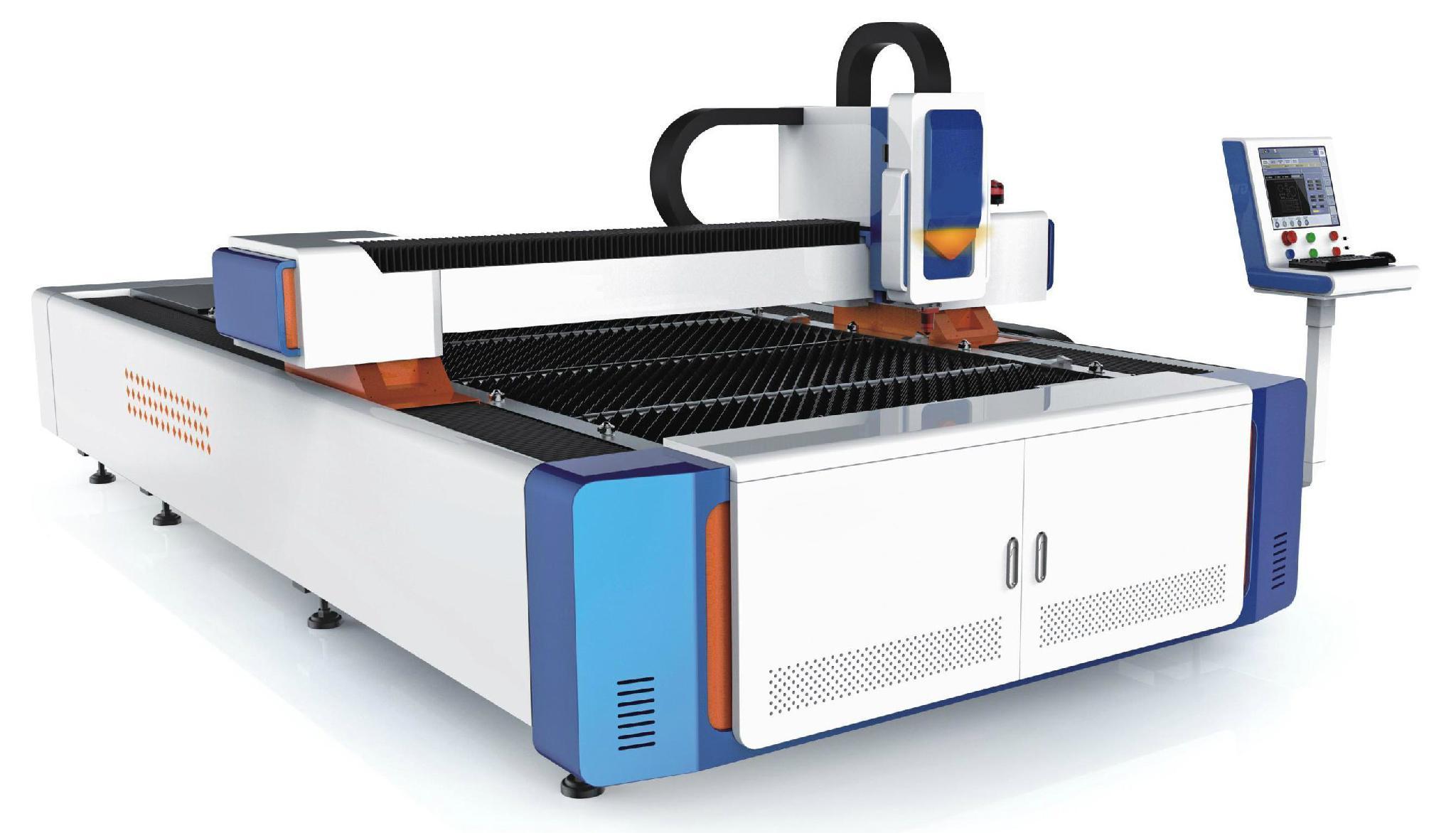 Fiber Laser Machine with 3000x1500mm work, SHLF-3015L 3