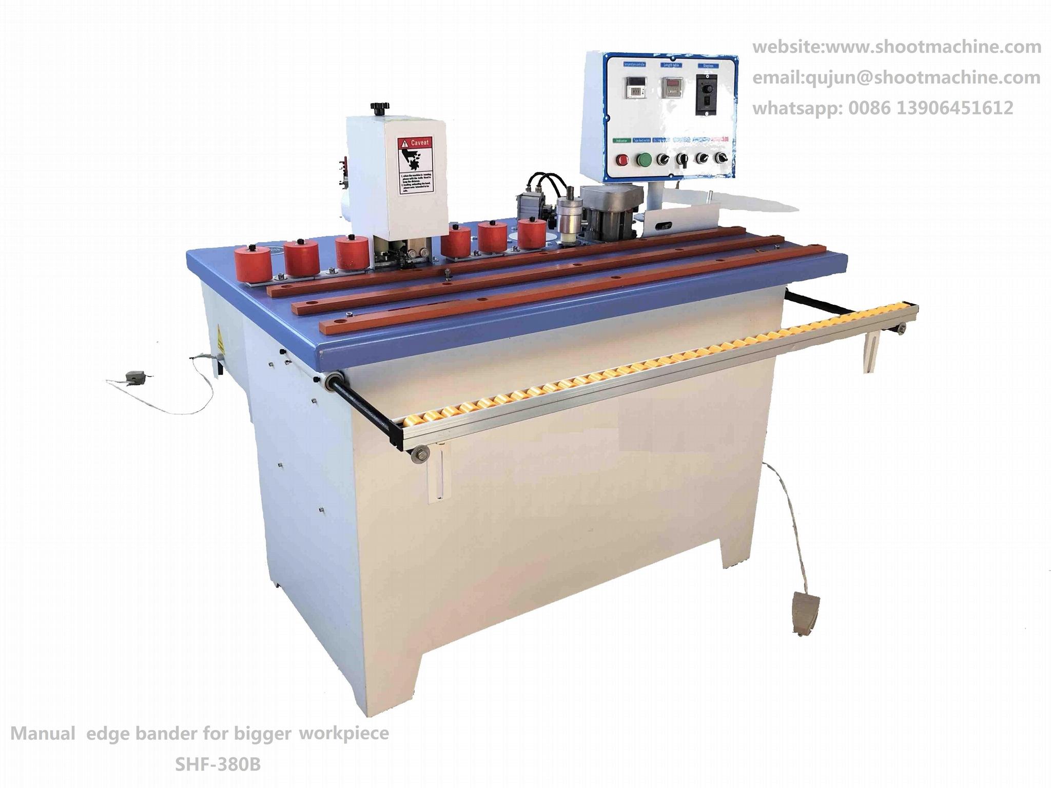 woodworking machine edge banding machine with trimming function, SHF-380B