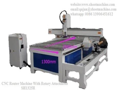 CNC Woodworking Router Machine with rotary attachment, SH1325R