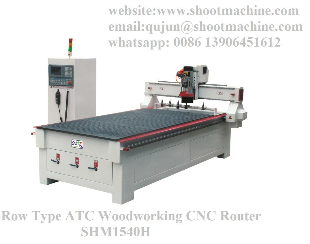 Row Type ATC Woodworking CNC Router, SHM1540H