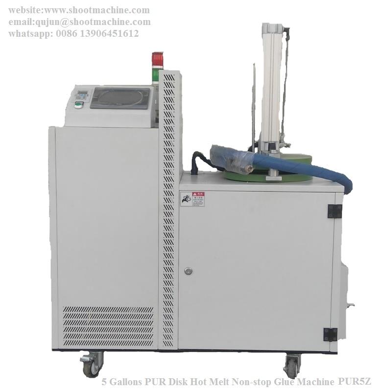 5 Gallons PUR Disk Hot Melt Non-stop Glue Machine for wrapping machine,SHPUR-5Z