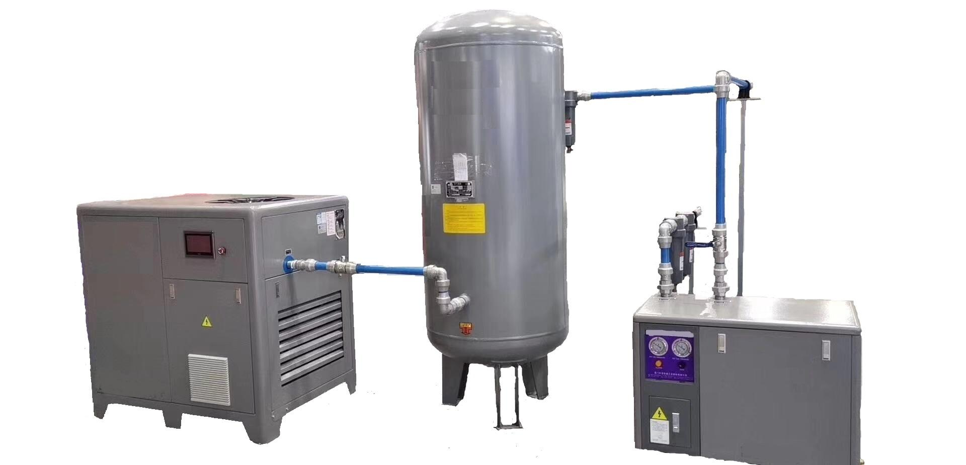 Compressor and air tank and air dryer machine,