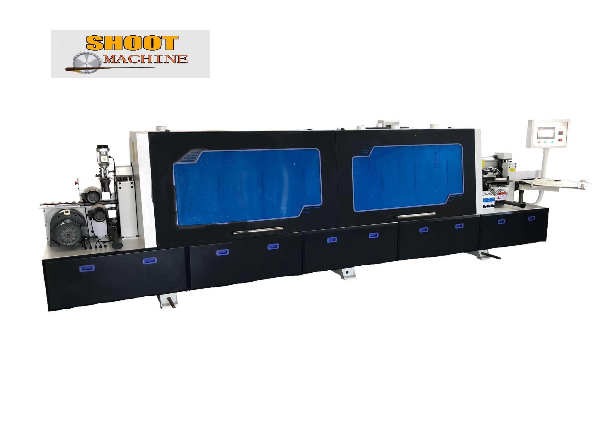 Woodworking Auto Edge Banding Machine with corner and hogging functions, SH450DK