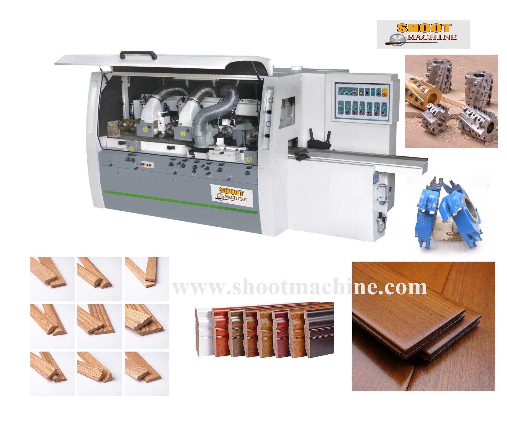 Heave Duty Woodworking Four-side Moulder Machine ,SHM623
