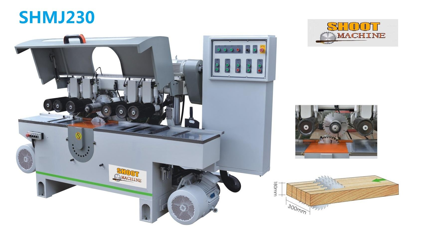Woodworking Multiple Rip Saw Machine with up & down saw blade,SHMJ230
