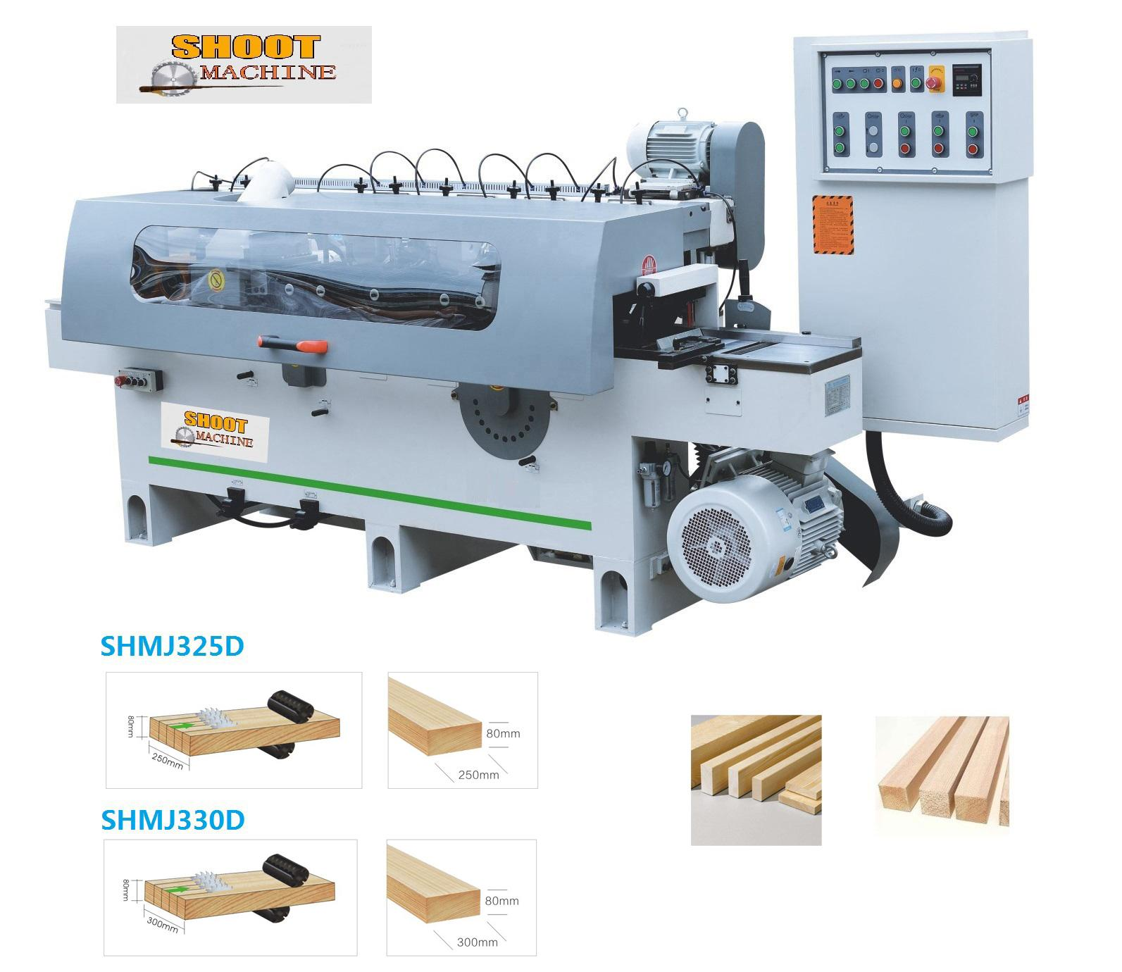Heavy Duty Woodworking auto Rip saw and Planer machine,SHMJ330D