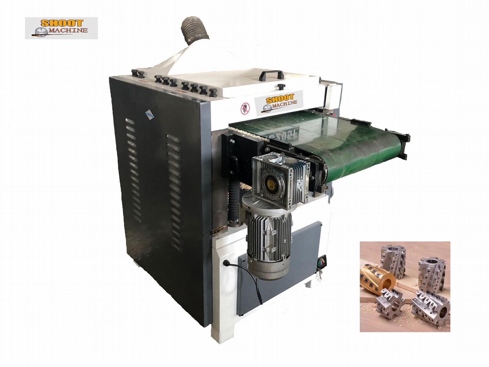 Heavy Duty Crawler Feeding Woodworking Double-sided Press Planer Machine,MB208F