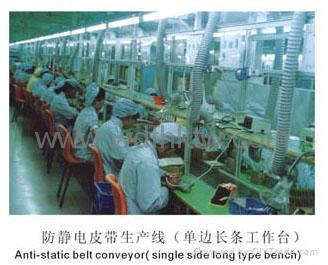 高級防靜電皮帶生產線(單雙邊長條台板)