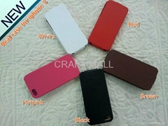 Real Leather case for Iphone 5 with free shipping