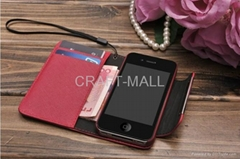 Leather Case For iphone 4 4s Book Design