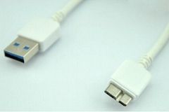 Micro USB 3.0 Sync Data Charger Cable For Samsung Galaxy S5 Note3 N9000, White