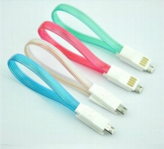 22cm USB to Micro USB Magnet Cable for Samsung, LED Light Cable