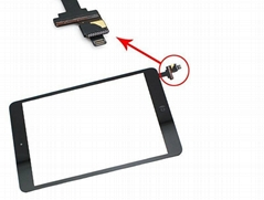 Touch Screen Digitizer Assembly for Apple iPad Mini Original Black with IC Conne