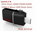 SanDisk Ultra Dual USB 3.0 Drive SDDD 16gb Transfer Files Easily from Your phone