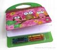 线圈本 带蜡笔绘画套装 笔记本