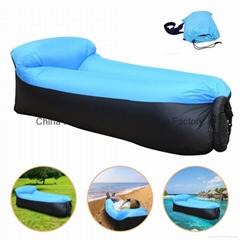 Outdoor Inflatable Air Sofa Sleeping Lazy Bag Camping Air Sofa Sleeping  Bed