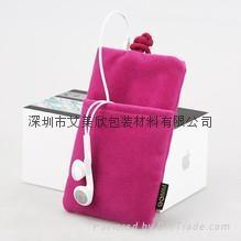 销售绒布移动电源袋