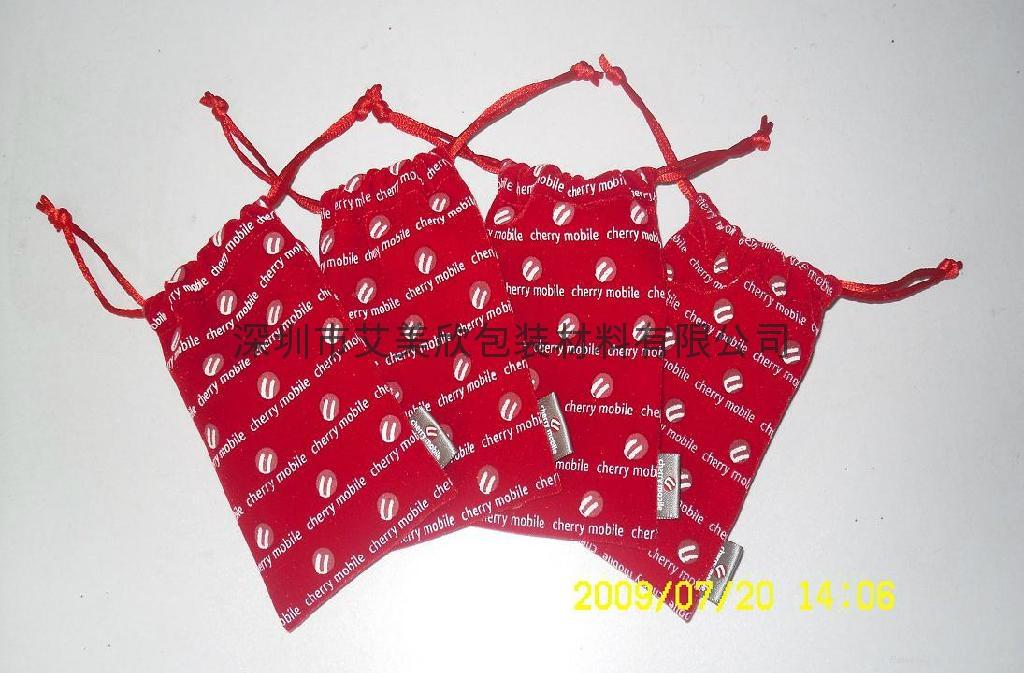销售首饰束口绒布袋 1