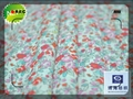 flower cotton printed fabric with wrinkle free