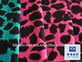 Cotton Velveteen Fabric With Leopard Print