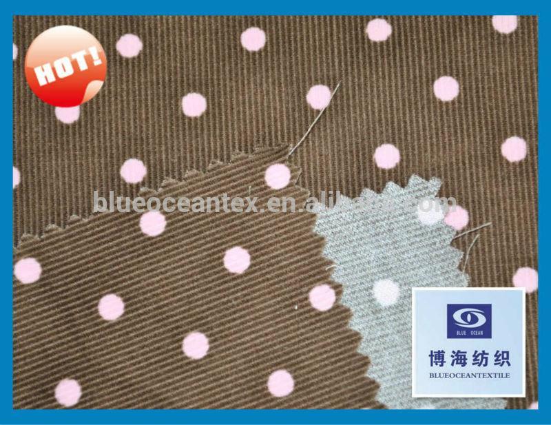 100% cotton corduroy fabric 14w 16x16/72x128  1