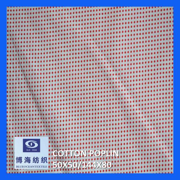全棉印花府綢 50x50/144x80    1
