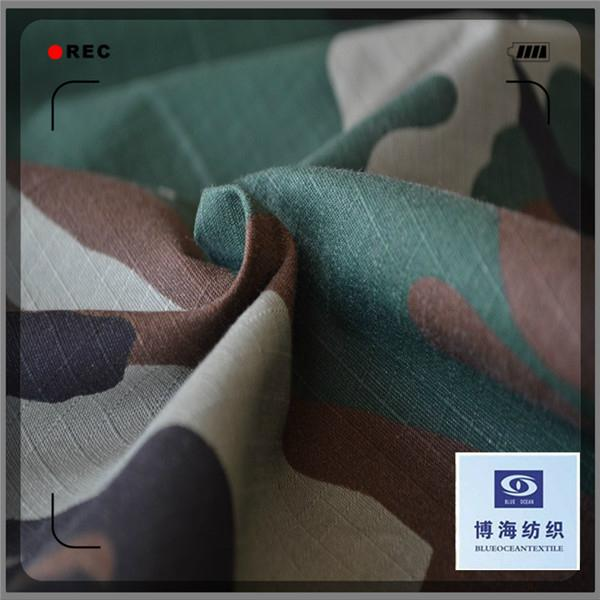 cotton ribstop fabric army duck canvas fabric 3
